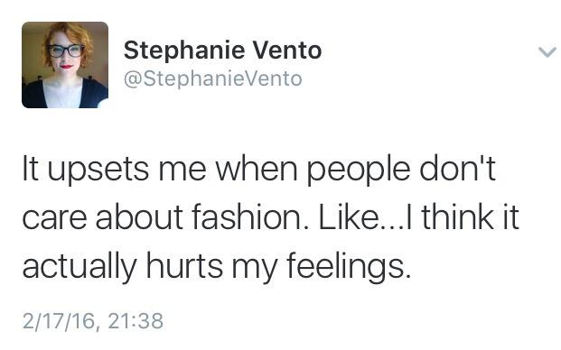 Fashion matters.