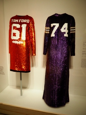on left: Tom Ford/Fall 2014; on right: Geoffrey Beene/1967