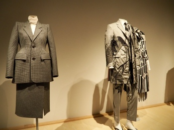 on left: Balenciaga/Fall 2015; on right: Thom Browne/Spring 2016