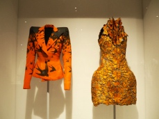 on left: Alexander McQueen/Spring 1995; on right: Sarah Burton for Alexander McQueen/Spring 2011